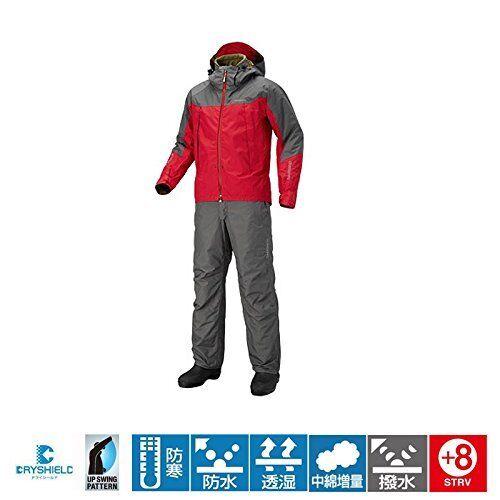 Shimano DS Advance cálido traje RB-025Q M rojo Pesca conjunto de chaqueta y pantalones Japón Nuevo