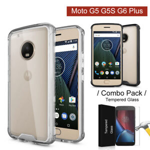sports shoes 1562e a4733 Details about Shockproof Crystal Clear Bumper Case Cover for Motorola Moto  G5 G5S G6 Plus
