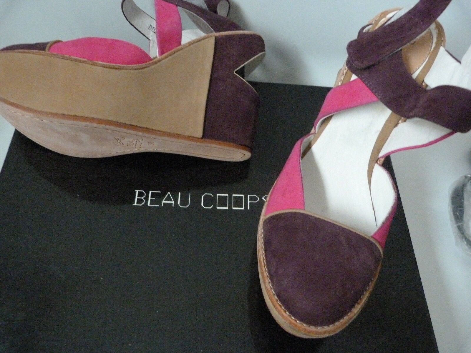 BEAU COOPS Schuhe / DESIGNER / WEDGE HEEL /   / UK 5   EU 38 /  US 7 ... NEW 215af0