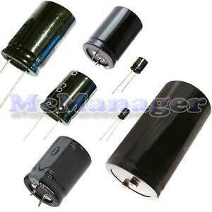 Range Of Radial Electrolytic Capacitors 22uf 10000uf 16v