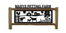 Goats And Sheep Log Sign