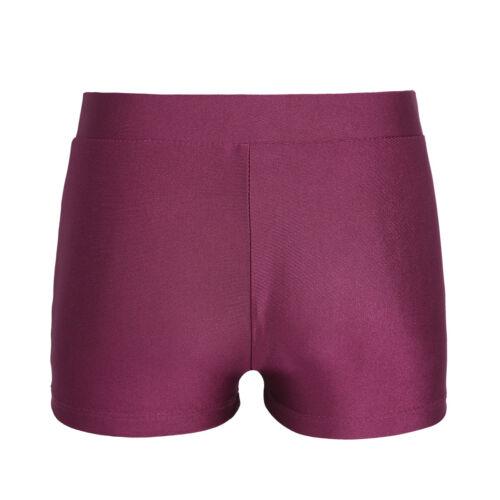 Kids Girls Sports Workout Boyshort Yoga Gym Stretch Tight Bottoms Short Pants