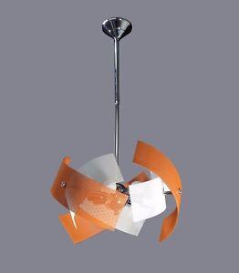 Dettagli su Lampadario Arancio Bianco Moderno 6 Luci per Cucina Salotto  Soggiorno Corridoio