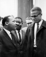 JR AND MALCOLM X CIVIL RIGHTS ICONS 8X10 PHOTO MARTIN LUTHER KING WW267