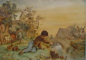 Fishing-Fishermen-Fishes-Angel-Rascal-Windmill-Shepherd-Cows-Sheep-Hunter