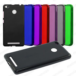 Funda-XIAOMI-REDMI-3S-3-PRO-Gel-TPU-LISO-MATE-carcasa-trasera-flexible-Colores