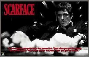 SCARFACE MOVIE POSTER ~ WORLD AND EVERYTHING 22x34 Al Pacino Tony Montana