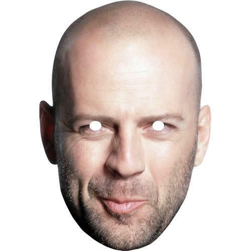 All Our Masks Are Pre-Cut! Bruce Willis Retro Actor Celebrity Card Mask