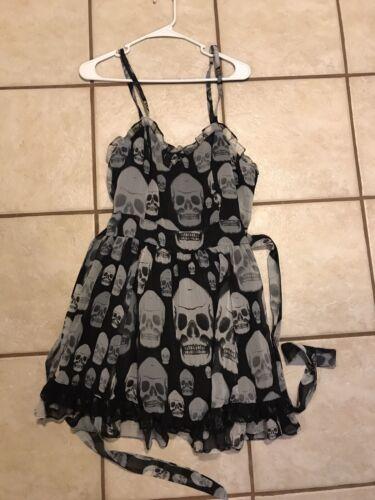 Tripp NYC Large Vintage Womens Skull Dress