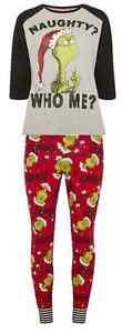 The-Grinch-Women-039-s-Pyjamas-Tshirt-Leggings-Set-Socks-Primark-Pajamas-Christmas