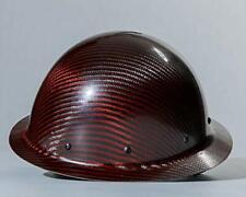Carbon Fiber Hard Hat Full Brim Red Black Ansiisea Certified