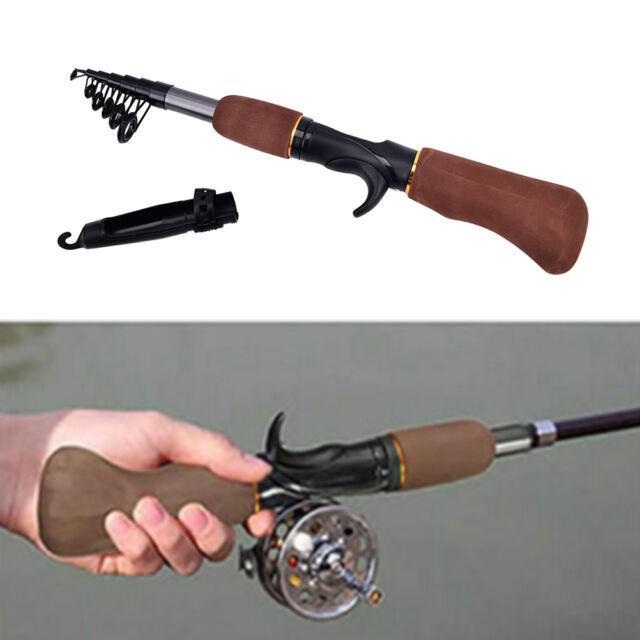 1.6m Fishing Rod Telescopic Rod Pole Rock Travel Carbon Fiber Portable Mini GT
