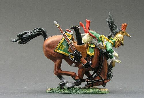 El rey na042 y la caballería de dragones del país en un caballo que se está desmoronando.