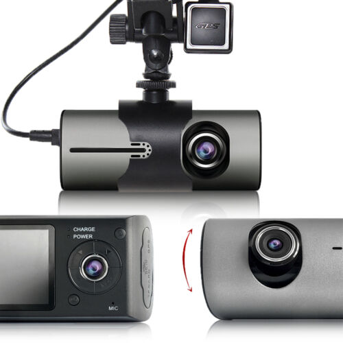 """Motion Recorder Indigi Dashboard Cam 2.7/"""" LCD Dual Wide Angle Lens + GPS"""