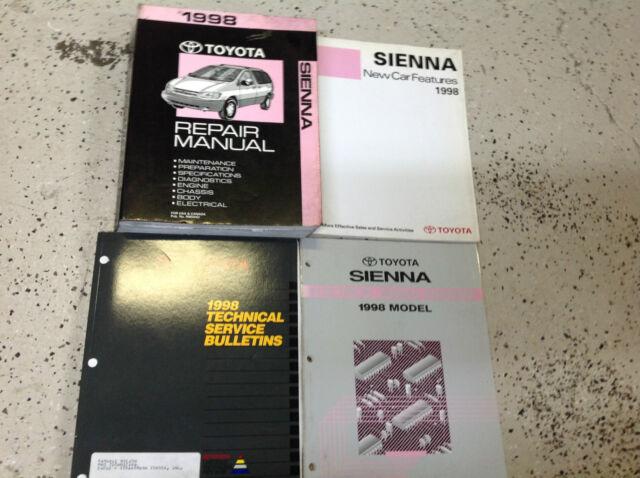 1998 Toyota Sienna Van Service Shop Repair Manual Set Oem