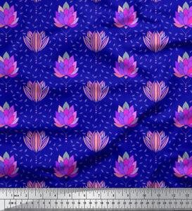 Soimoi-Fabric-Leaves-amp-Kiko-Rose-Floral-Print-Fabric-by-the-Yard-FL-882D