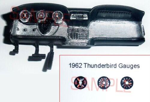 1962 FORD THUNDERBIRD GAUGE FACES for 1//25 scale AMT KITS
