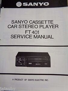 sanyo cassette vintage car stereo player owners service manual ft rh ebay com sony car stereo manual sony car stereo manual