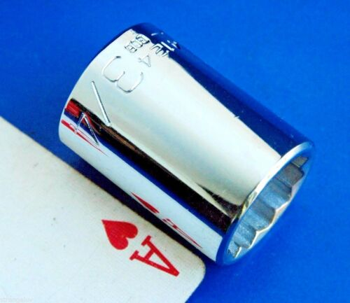 """Wright Tools USA 1//2/"""" drive 3//4/"""" shallow chrome 12-point Socket wrench NEW"""