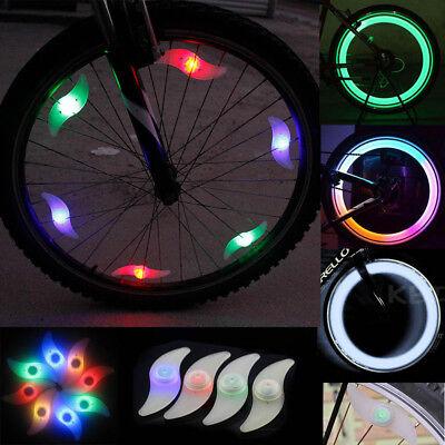 2pcs Bicycle Cycling Bike Wheel Spoke Wire Tyre Bright LED Flash Light Lamp