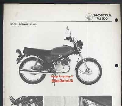 Original Honda H100A (1980-on) Factory Work-Shop Manual H MB 100 HA01 pre H100S