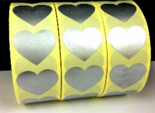 Pegatinas de Corazón de Plata 27x24mm