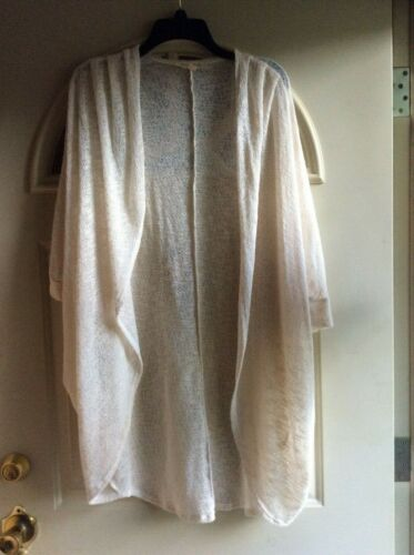 Painted Threads Open Cardigan, Ivory, sz. L