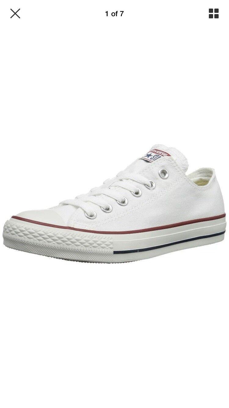 Converse All Star Ox blanco Classic Low Top zapatilla de deporte Trainers  UK 11 EUR 45