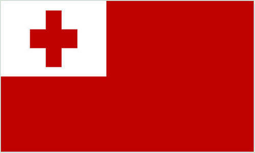 Tonga 3/' X 2/' 3ft x 2ft Flag With Eyelets Premium Quality Rugby