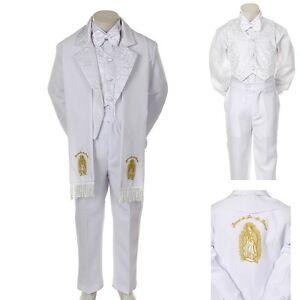 493feff190b7 Gold Baby Toddler Boy Church Communion Baptism Tuxedo Suit S M L XL ...