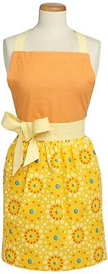 Design Imports Floral Dot Tangerine Apron Retro 100% Cotton - 22790