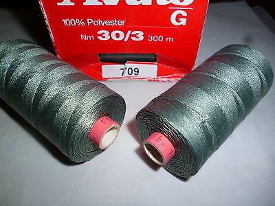 Sehr Starke 3//4mm Stärke Nähfaden Rot für Handnaht 2 Nadeln Basteln