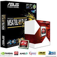 AMD FX4300 QUAD CPU ASUS M5A78L-M PLUS USB3 MOTHERBOARD GAMING UPGRADE BUNDLE
