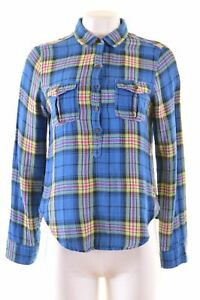 ABERCROMBIE-amp-FITCH-femme-Pullover-Shirt-Taille-8-Petit-Multi-check-MT12