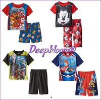 Super Mario Kart 7 Star Wars Sleepwear Pajama Boys 2 Pieces Short Tee 4 6 8