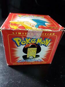 Pokemon Burger King 23k gold plated trading card Charizard Sealed damaged box