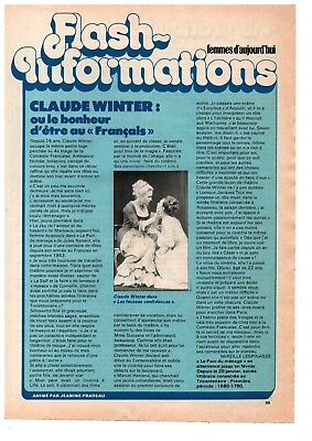 1 Page 1979 Complete In Specifications ▬► Clipping Flash Information Claude Winter