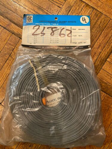 Heating Cable Pipe Heater 40 Feet 240 Volt Ac//dc Part# RD//U40-2