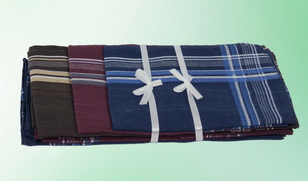 Distingué Hommes Mouchoir à Carreaux Foulard Foulards 12 Pièces Bleu Rouge 38 * 38 Cm Emballage Prix Le Moins Cher De Notre Site