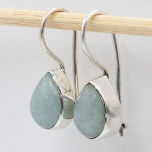 Aquamarin-Ohrhaenger-echt-Silber-925-Ohrringe-Tropfen-Sterlingsilber-hvts