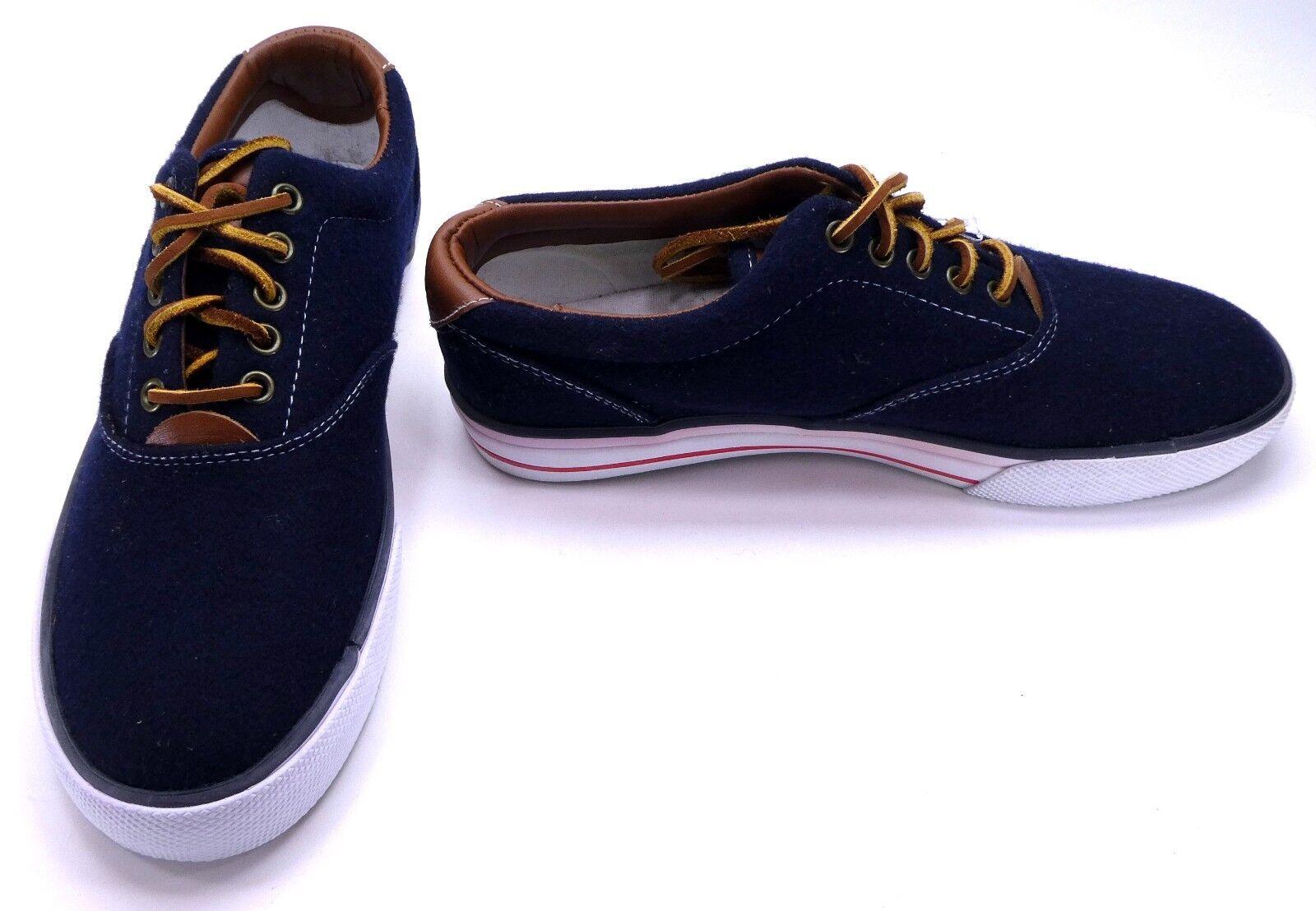 Polo Ralph Lauren Shoes Vaughn Athletic Flannel Blue Scarpe da Ginnastica Size 8.5