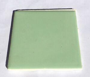 jade green 4x4 vintage ceramic tile 'made in usa' -1sq ft