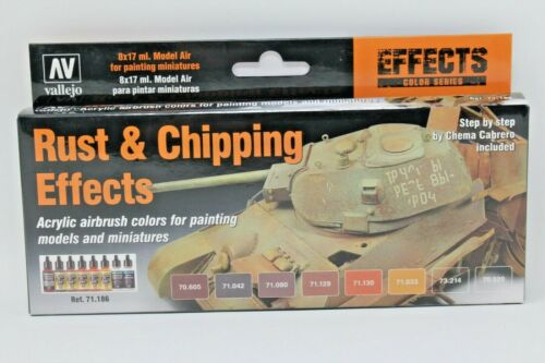 Rust and Chipping Effects Vallejo Effects Colour Series Paint Set