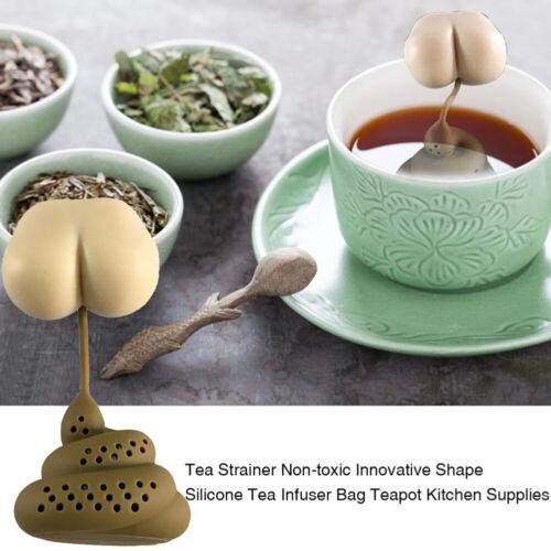 Wiederverwendbar Süß Kacke Scheiße Silikon Tee-Ei Sieb Filter Zubehör DIY Gut