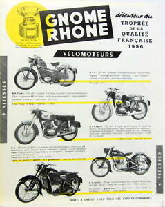 1956 moto gnome rhone 49 125 175 200 cm3 velomoteur cyclomoteur prospectus ebay. Black Bedroom Furniture Sets. Home Design Ideas