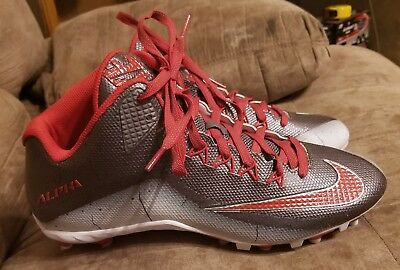 Athletic Shoes Dashing Nike Men's Alpha Strike 2 3/4 Football Cleats Red/grey Size 13 Men's Shoes
