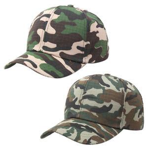 Men-Women-Baseball-Cap-Military-Camo-Hat-Trucker-Camouflage-Snapback-AA