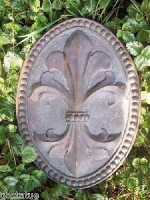 stepping stone mold  plaque fleur de lis  plastic  mould