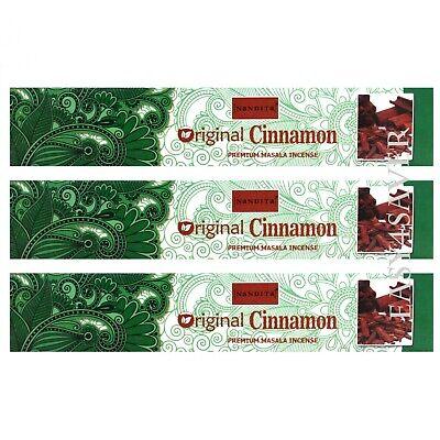 Pack of 3 Nandita Original NAG Champa Premium Natural Masala Incense Sticks 15 Gram Each