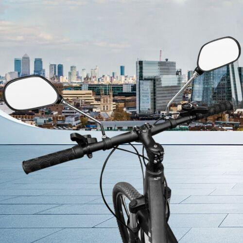 1 Pair Bicycle Handlebar Mirror Bicycle Bike Rearview Wide Range Back Sight FA